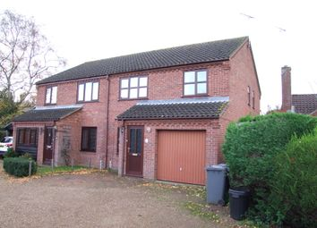 Thumbnail 3 bed semi-detached house to rent in Oakwood Park, Yoxford, Saxmundham, Suffolk
