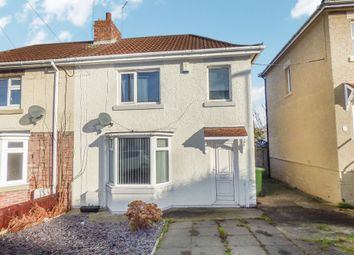 Thumbnail 2 bed semi-detached house to rent in Dene Road, Guidepost, Choppington