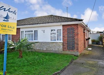 Thumbnail 2 bed semi-detached bungalow for sale in Eden Road, Seasalter, Whitstable, Kent