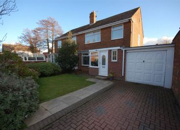 Thumbnail 3 bedroom semi-detached house for sale in Redesdale Close, Forest Hall, Newcastle Upon Tyne