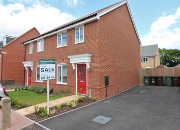 Thumbnail 3 bed semi-detached house for sale in Hornbeam Drive, Dereham