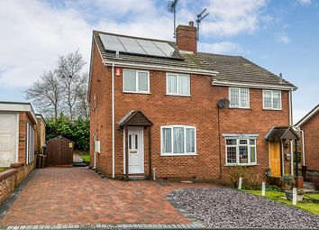 Thumbnail 3 bed semi-detached house for sale in Tudor Hollow, Fulford, Stoke-On-Trent