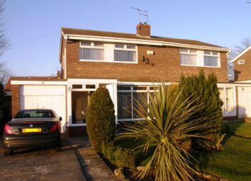 Thumbnail 3 bedroom semi-detached house to rent in Oakfield Close, Sunderland