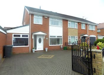 Thumbnail 3 bed semi-detached house for sale in Stuart Avenue, Hindley Green, Wigan