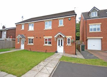 Thumbnail 3 bed semi-detached house for sale in Mead Court, Forest Hall, Newcastle Upon Tyne