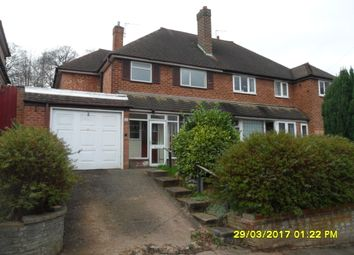 Thumbnail 3 bed semi-detached house to rent in Hudson Road, Handsworth Wood, Birmingham