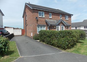 Thumbnail 3 bed semi-detached house to rent in Foxglove Close, Launceston, Cornwall