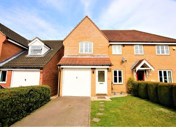 Thumbnail 3 bed semi-detached house for sale in Poppyfields, Horsford