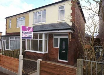 Thumbnail 3 bedroom semi-detached house to rent in Bernard Grove, Bolton