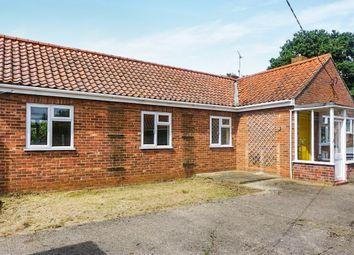 Thumbnail 3 bed detached bungalow for sale in Rudham Stile Lane, Fakenham