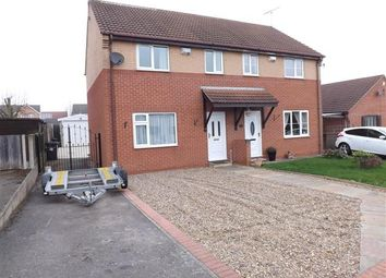 Thumbnail 3 bed semi-detached house for sale in Linden Road, Creswell, Worksop