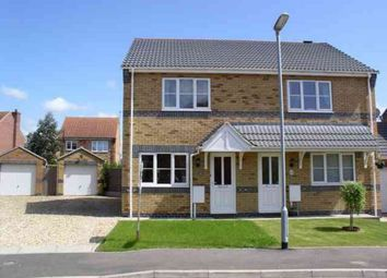 Thumbnail 2 bed semi-detached house to rent in Lady Meers Road, Cherry Willingham, Lincoln