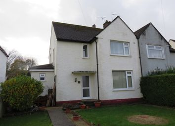 Thumbnail 3 bed semi-detached house for sale in Lewis Road, Llandough, Penarth