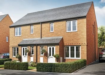 "Thumbnail 3 bed semi-detached house for sale in ""The Hanbury"" at Cranford Road, Kettering"