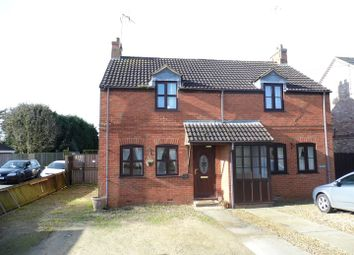 Thumbnail 2 bed semi-detached house for sale in Mill Road, Walpole Highway, Wisbech