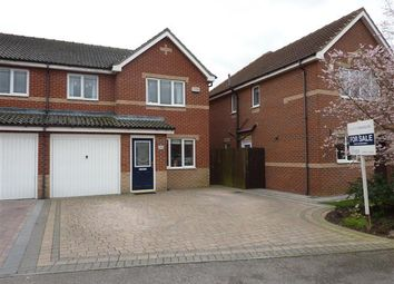 Thumbnail 3 bed semi-detached house for sale in Burley Close, Laceby Park, Laceby, Grimsby