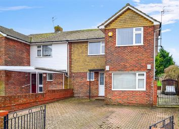 Thumbnail 4 bed semi-detached house for sale in Kipling Avenue, Woodingdean, Brighton, East Sussex