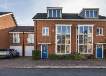 Thumbnail 4 bed terraced house for sale in Fairwater Drive, Shepperton, Middlesex