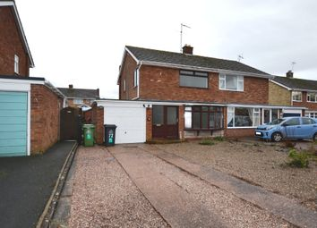Thumbnail 3 bed semi-detached house for sale in Sherwood Crescent, Market Drayton