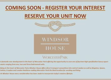 Thumbnail 1 bed flat for sale in Windsor House, Windsor Road, Worcester Park