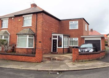 Thumbnail 3 bed semi-detached house for sale in Brampton Place, North Shields