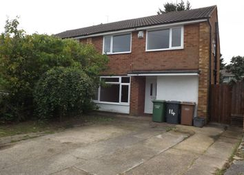 Thumbnail 3 bedroom semi-detached house for sale in Leghorn Crescent, Luton