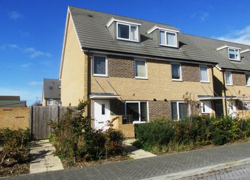 Thumbnail 3 bed end terrace house for sale in Solebay Way, Gosport
