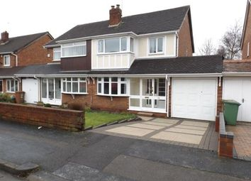 Thumbnail 3 bed semi-detached house for sale in Buckingham Drive, Willenhall, West Midlands
