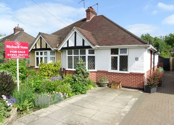Thumbnail 2 bed semi-detached bungalow for sale in Selbourne Avenue KT15 3Rb,