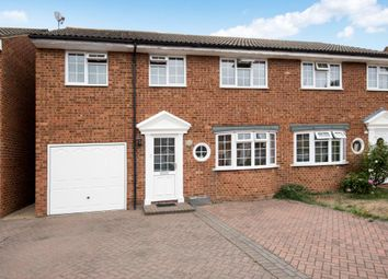 Thumbnail 4 bed semi-detached house for sale in Lucan Drive, Staines-Upon-Thames
