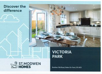 Thumbnail 2 bedroom town house for sale in Victoria Park, Stoke
