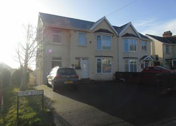 Thumbnail 4 bed semi-detached house for sale in New Road, Treboeth, Swansea