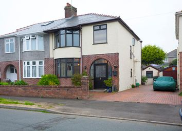Thumbnail 4 bed semi-detached house for sale in Priory Avenue, Bridgend