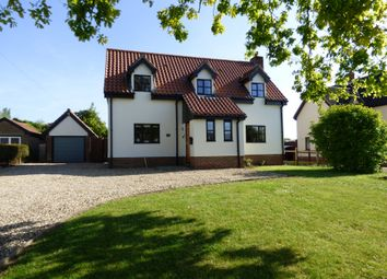 Thumbnail 3 bed detached house for sale in High Green, Great Moulton, Norwich