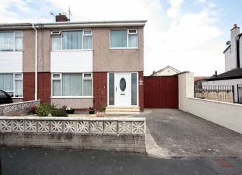 Thumbnail 3 bed semi-detached house for sale in Berwyn Crescent, Kinmel Bay, Rhyl