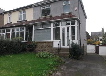 Thumbnail 3 bed semi-detached house to rent in Heaton Road, Bradford