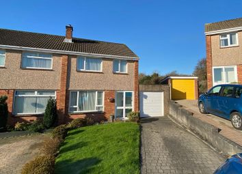 Thumbnail 3 bed semi-detached house for sale in Rhodes Close, Plympton, Plymouth