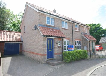 Thumbnail 3 bedroom semi-detached house for sale in Cornfields, Dickleburgh, Diss