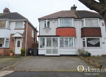 Thumbnail 3 bed semi-detached house for sale in Woolacombe Lodge Road, Birmingham, West Midlands.