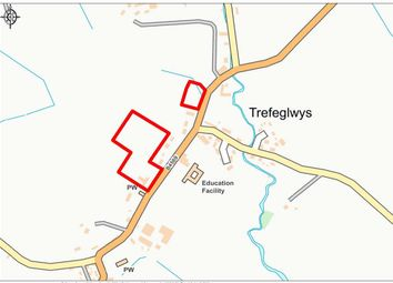 Thumbnail Land for sale in Trefeglwys, Powys