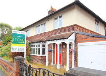 Thumbnail 3 bed semi-detached house for sale in Ranelagh Drive North, Grassendale, Liverpool
