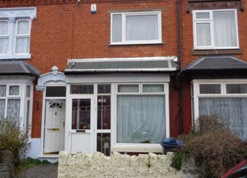Thumbnail 2 bedroom terraced house for sale in Knowle Road, Sparkhill Birmingham