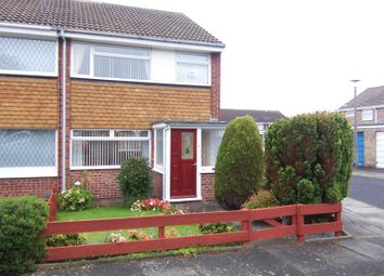 Thumbnail 3 bed end terrace house to rent in Plover Close, Blyth