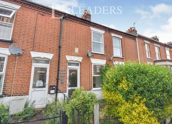 Thumbnail 3 bed terraced house to rent in Churchill Road, Norwich