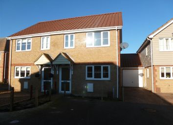 Thumbnail 3 bedroom semi-detached house to rent in Mulberry Lea, Upwell, Wisbech