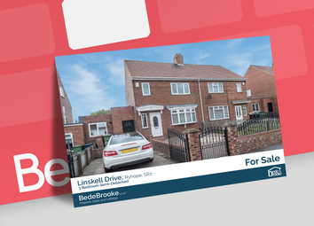 Thumbnail 3 bed semi-detached house for sale in Linskell, Sunderland