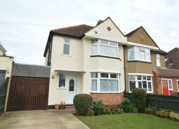 Thumbnail 3 bed semi-detached house for sale in Vallis Way, Chessington