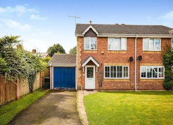 Thumbnail 3 bedroom semi-detached house for sale in Malthouse Close, Whittington, Oswestry, Shropshire