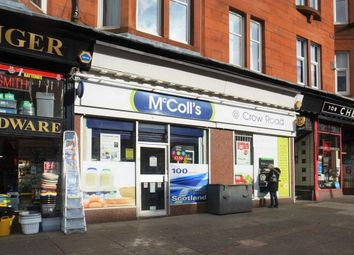 Thumbnail Retail premises for sale in Crow Road, Glasgow