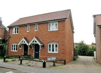Thumbnail 2 bed semi-detached house to rent in St. Johns Road, Saxmundham